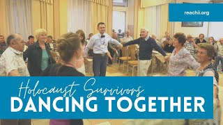 Dancing at Holocaust Survivors Retreat
