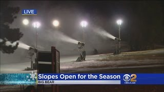 They're Making Snow In Big Bear