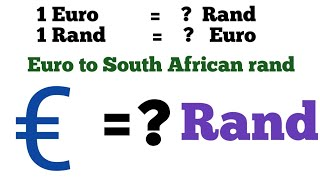 euro to rand exchange rate | rand to euro exchange rate | rand euro exchange rate | eur to zar