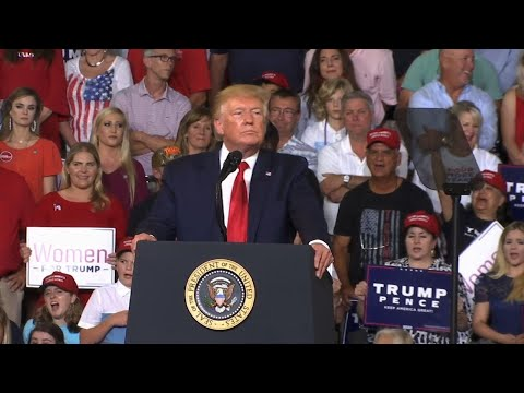 """A boisterous arena on the campus of East Carolina University was the latest stop for President Trump, as he held a """"Keep America Great"""" rally.  He singled out each of the liberal Congresswomen at the center of his latest tweet storm. (July 18)"""