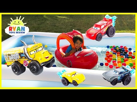 Disney Cars 3 Toys Lightning McQueen Kids Swimming Pool with Ball Pits Color Balls