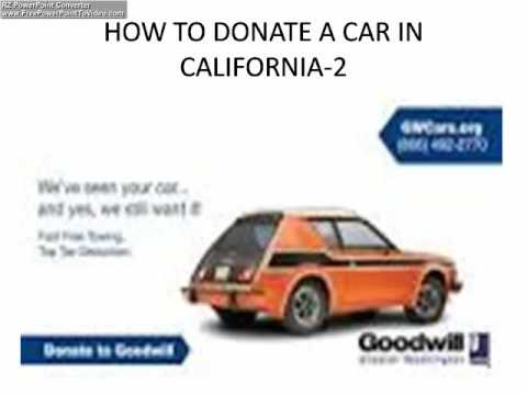 HOW TO DONATE A CAR IN CALIFORNIA 2