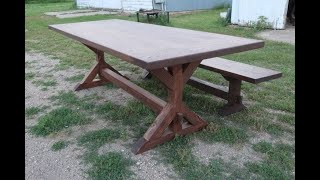 Building A Farmhouse Table With Breadboard Ends