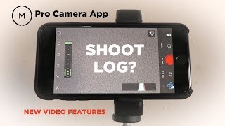 Shooting LOG with the New Moment App?