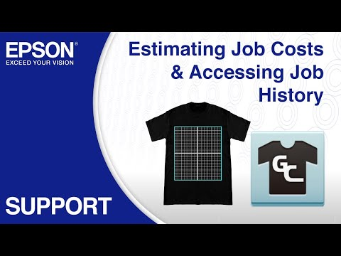 Epson Garment Creator | Estimating Job Cost & Accessing Job History