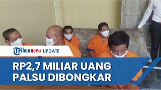 Sindikat Pembuat Uang Palsu Rp2,7 Miliar Dibongkar, Lima Orang Pelaku Ditangkap