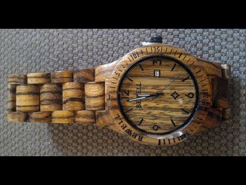 Orologio in legno zebrano