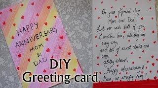 How i made happy anniversary greeting card | very simple | DIY | Niya Kumar
