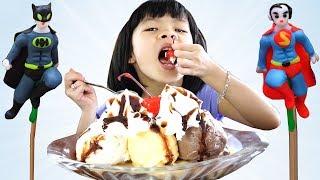 Bé Đi Chơi Phố Ăn Bún Đậu Mắm Tôm Ha Ha Ha ❤ AnAn ToysReview TV ❤