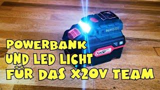 Lidl - PARKSIDE® Akku-Adapter PAA 20-Li X20V Team Powerbank