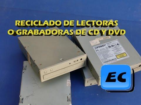 Reciclar una lectora o grabadora CD/DVD  vieja o rota. Que se puede sacar de compactera