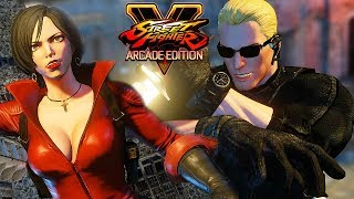 Street Fighter 5 AE - WESKER vs ADA WONG (Resident Evil) Gameplay PC Mod @ 1440p (60ᶠᵖˢ) HD ✔