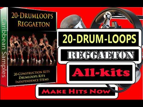 20 Reggae-ton Drum loops/all independence Stems.