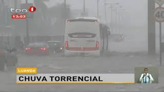 Chuva torrencial em Luanda