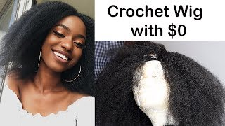 I MADE A CROCHET WIG WITH $0 AND 1 PACK OF MARLEY HAIR CAUSE I WAS BORED