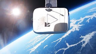 I Sent My YouTube Play Button Into Space!!