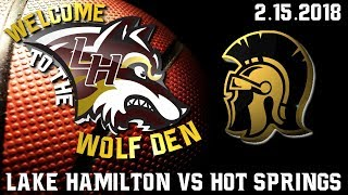 Lake Hamilton Wolves Varsity Basketball Vs. Hot Springs Trojans   2.15.2018