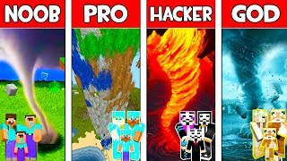 Minecraft NOOB vs PRO vs HACKER vs GOD: FAMILY TORNADO in Minecraft Animation