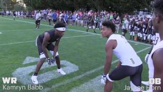 2017 The Opening Finals | WR vs DB 1 on 1's