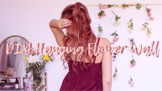 DIY Hanging Flower Wall