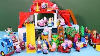 Peppa Pig Blocks Mega House Construction Sets - Lego Duplo House With Water Slide Toys For Kids #6
