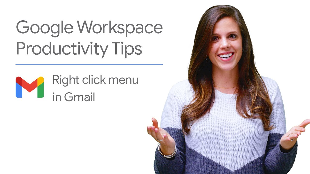 Want to easily reply, label, or even snooze an email? In this episode of Google Workspace Productivity Tips,  Laura Mae Martin shows you how to utilize the right click menu in Gmail. Watch to learn how you can use Gmail's right click menu!