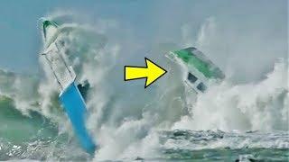 Video Detik-detik Kapal Tenggelam Diterjang Ombak Tinggi di Pantai Nias