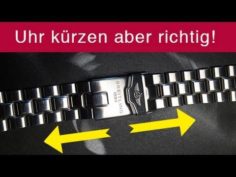 Uhrenratgeber: Uhr kürzen ohne Vorkenntnis, Uhrenarmband kürzen