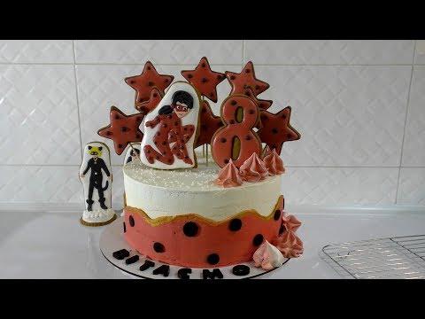 """Идея торта по мотивам мультфильма """"Леди Баг"""""""