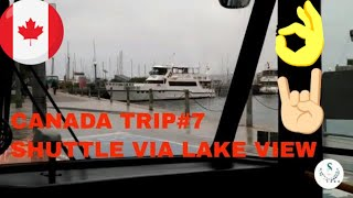 Canada Trip#7 | City View | Airport Shuttle Bus Service | Airport To Union Station |Via Toronto Lake
