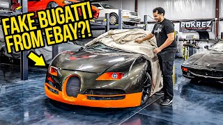 I Bought A FAKE Bugatti Veyron On Ebay (And It\'s WORSE Than You Think)