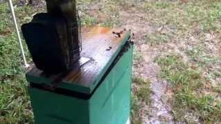 Working Honeybees In The Rain - Using Pop-up Canopy