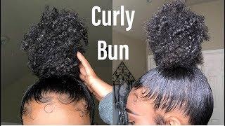 Curly Sleek High Bun | Natural Hair