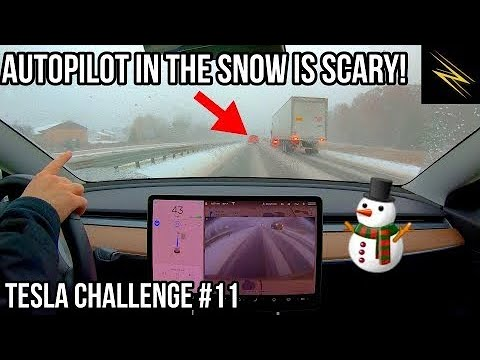 Can Autopilot Drive Me Through a Snow Storm?   TESLA CHALLENGE #11   Winter   Full Self Driving  