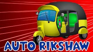Auto Rickshaw Collection for Children | Medley | Construction Games | Tuk tuk Battles