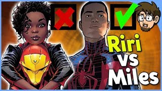 Why Miles Morales is Loved and Riri Williams is Hated