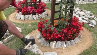 GARDEN DESIGN (30) - Ogrodowe Inspiracje - Pergolowe Kamienne Klomby
