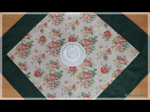 Großmutter Käthes Nähstunde Patchwork  Tischdecke nähen für Anfänger ohne Schnittmuster