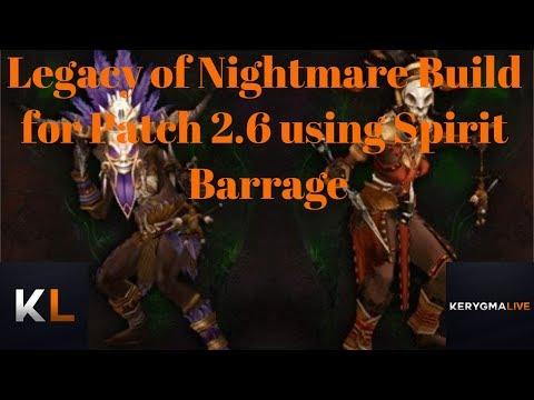 LoN Spirit Barrage Solo Build for Diablo 3 Season 11 Patch 2.6