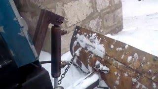 Самодельный минитрактор запуск в мороз