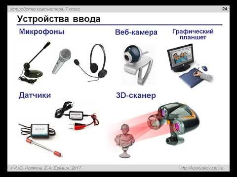 Компьютер. Урок 2. Устройства ввода и вывода информации