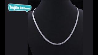 Delicate Titanium Steel Snake Chain Necklace For Men - En Español