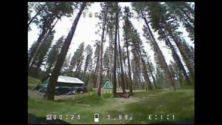 Learning to Fly FPV - Tinyhawk S flies at camp!