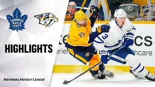 NHL Highlights | Maple Leafs @ Predators 1/27/20