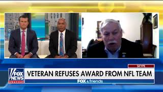 Disabled VET Refuses NFL Award They Take A Knee To The Flag