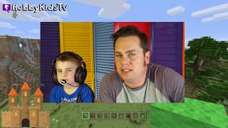 Minecraft Castle Challenge Arrow Battle Challenge HobbyKidsTV