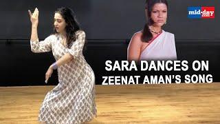 Sara Ali Khan dances on Zeenat Aman's song