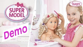 Super Model - Styling head - Schminkkopf - Demo - Bayer Design