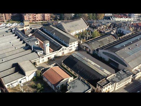 Con il drone sull'area ex-Aermacchi di Varese