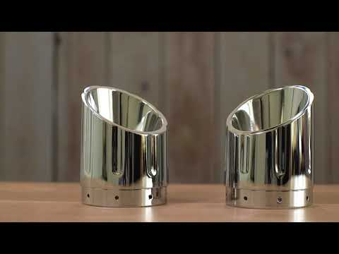 Six Shooter Exhaust Tips in Matte Black, Pair - Image 1 of 6 - Product Video